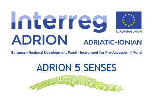 Building the ADRION Brand Name in Tourism: Indulging all Five Senses Logo